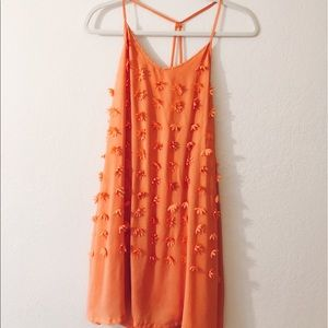 Orange/Peach Lulu's I. Madeline Flower Dress